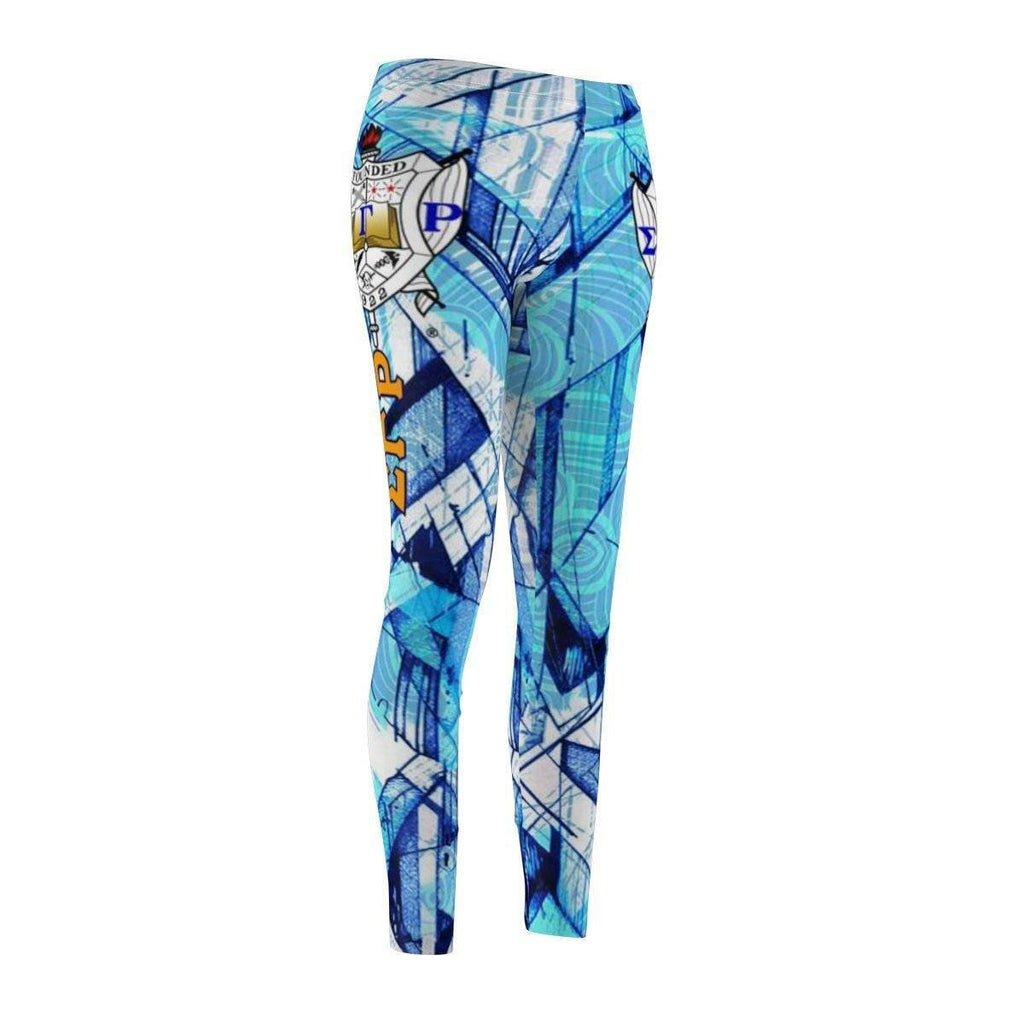 Sigma Gamma Rho  Women's Cut & Sew Casual Leggings - Unique Greek Store