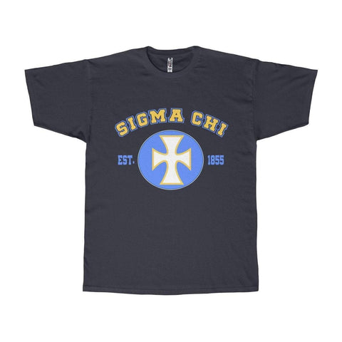 Image of Sigma Chi Logo and Founding Year Tee - Unique Greek Store