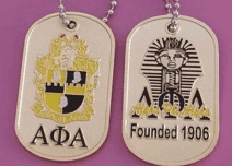 Image of Alpha Phi Alpha Dog Tag - Unique Greek Store