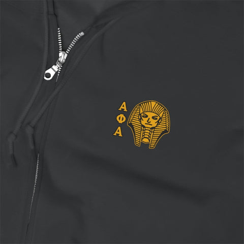 Alpha Phi Alpha Embroidery Zip Up Hoodie