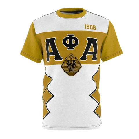 Image of Alpha Phi Alpha Initials/Year Unisex AOP Cut & Sew Tee - Unique Greek Store