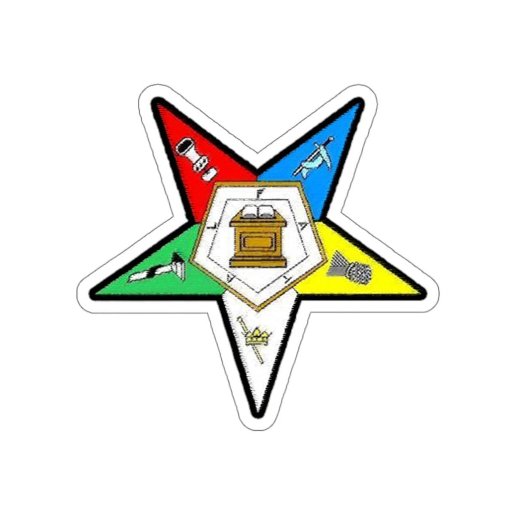 Order of the Eastern Star Emblem Sticker A