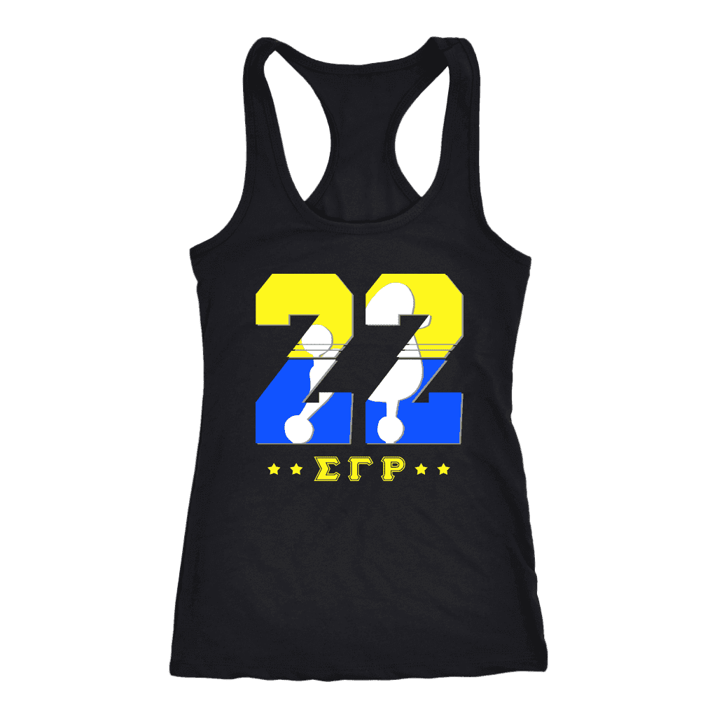Sigma Gamma Rho  Founding Year Next Level Racerback Tank - Unique Greek Store