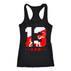 Delta Sigma Theta Founding Year Next Level Racerback Tank - Unique Greek Store