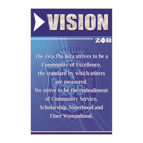 Zeta Phi Beta Vision Wall Art - Unique Greek Store