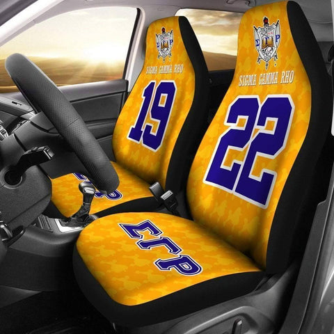 Image of Sigma Gamma Rho Founding Year and Initials Carseat Covers - Unique Greek Store