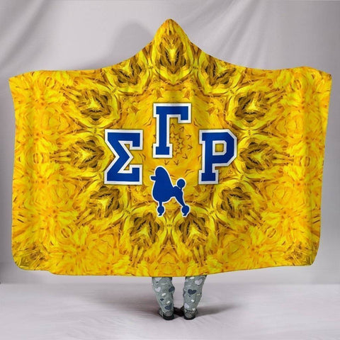 Image of Sigma Gamma Rho Hooded Blanket - Unique Greek Store