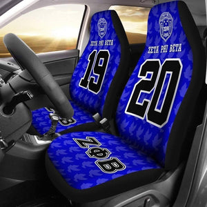 Zeta Phi Beta Founding Year and Initials Carseat Covers - Unique Greek Store