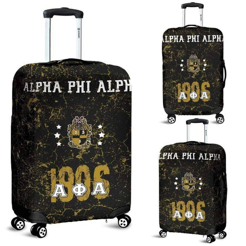 Image of Alpha Phi Alpha Luggage Bag Cover - Unique Greek Store