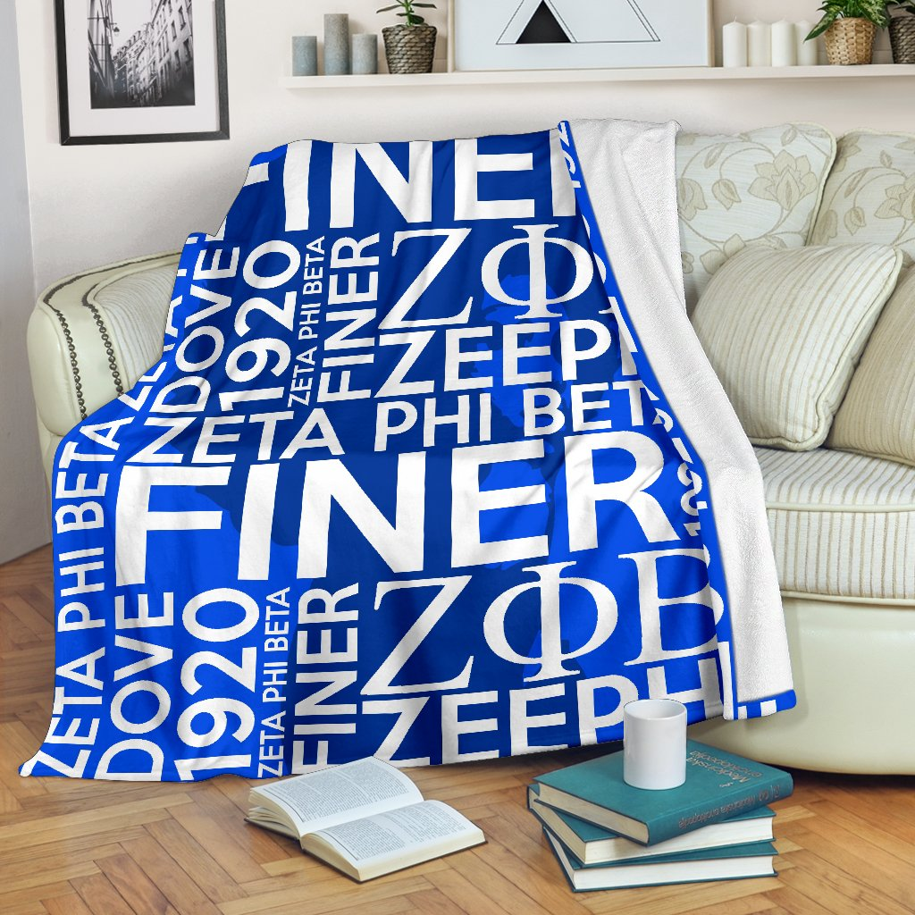 Zeta Phi Beta Founding Year Blanket