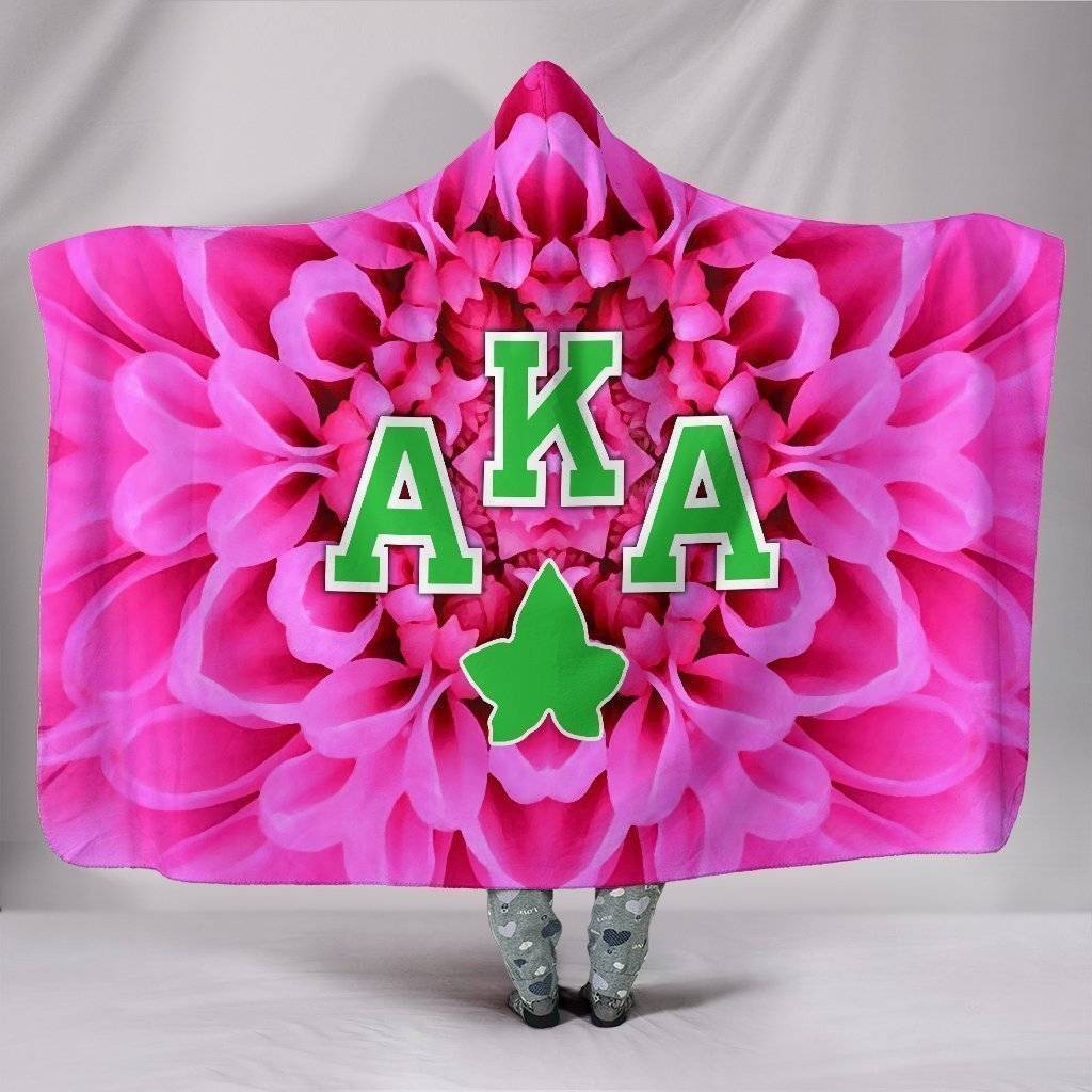 Alpha Kappa Alpha Hooded Blanket - Unique Greek Store