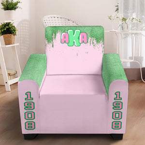"Alpha Kappa Alpha 43"" Chair Slip Cover"