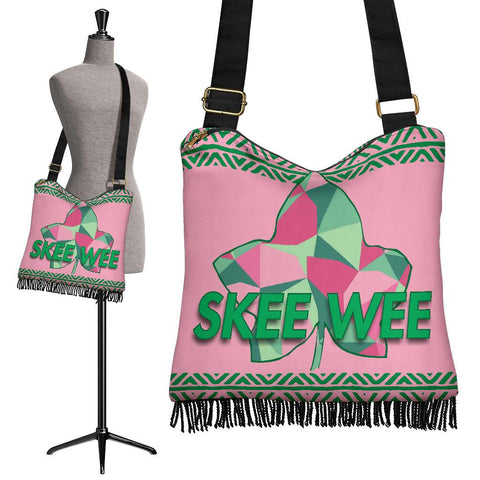 Image of Alpha Kappa Alpha Crossbody Boho Handbag