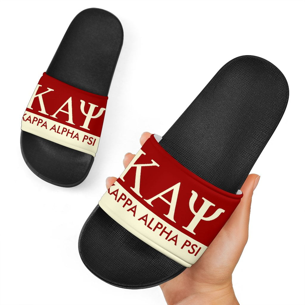 Kappa Alpha Psi Black Slide Sandals