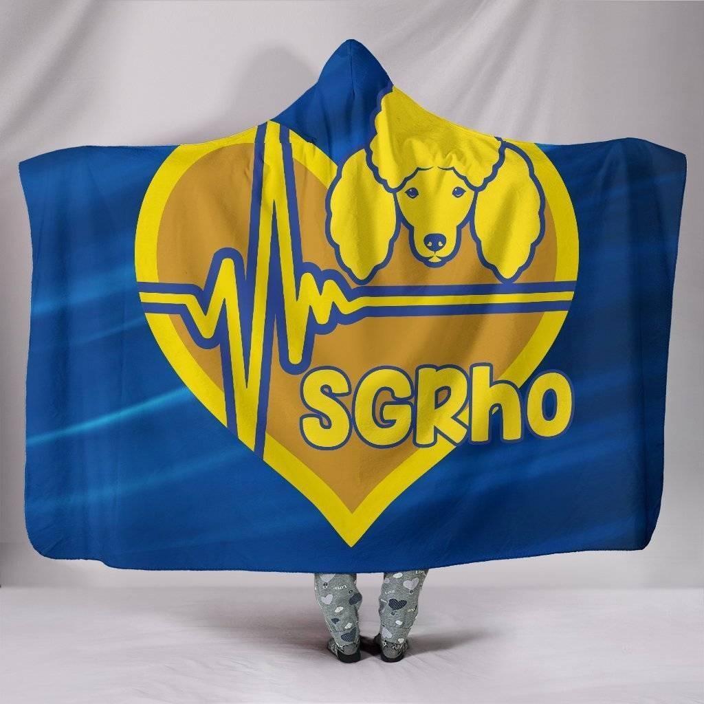 Sigma Gamma Rho Emblem Hooded Blanket - Unique Greek Store