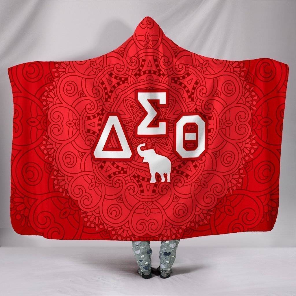 Delta Sigma Theta Hooded Blanket - Unique Greek Store
