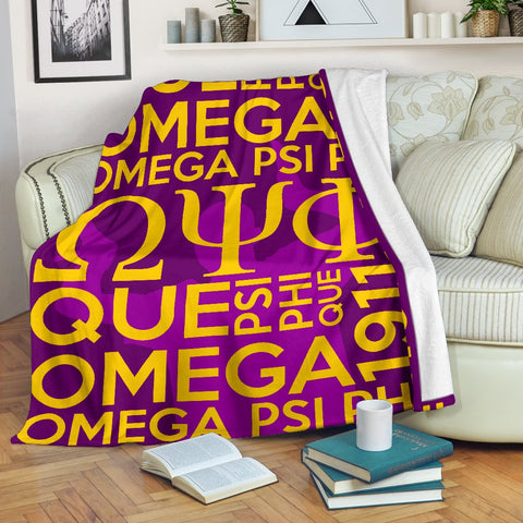 Image of Omega Psi Phi Founding Year Blanket
