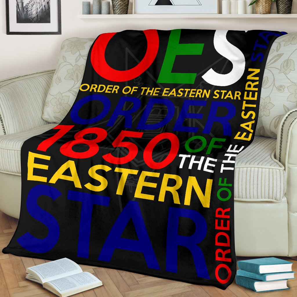 Order of the Eastern Star Founding Year Blanket
