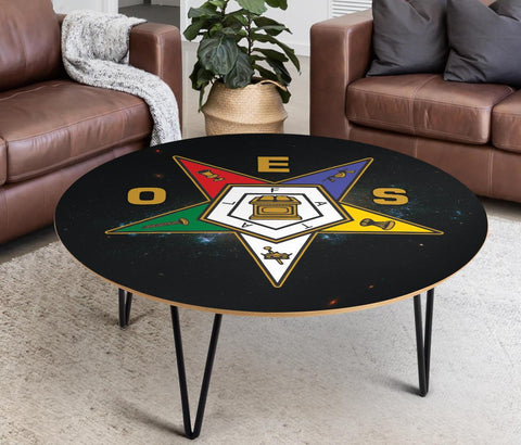 Image of Order of the Eastern Star Made in USA Coffee Table