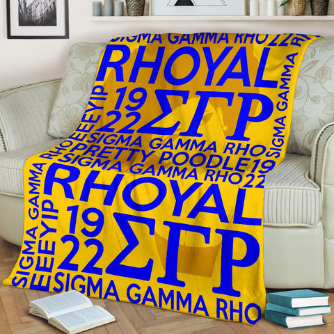 Image of Sigma Gamma Rho Founding Year Blanket