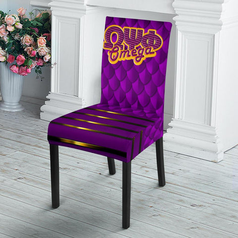 Image of Omega Psi Phi Dining Chair Slip Cover