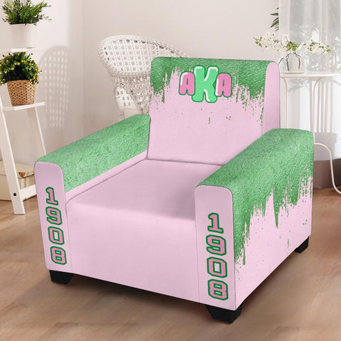 "Image of Alpha Kappa Alpha 43"" Chair Slip Cover"