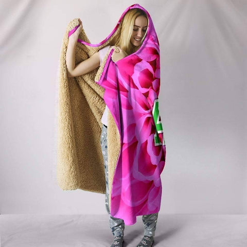 Image of Alpha Kappa Alpha Hooded Blanket - Unique Greek Store