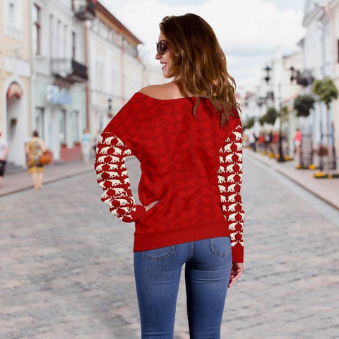 Delta Sigma Theta Off Shoulder Sweater - Unique Greek Store