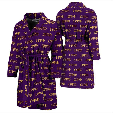 Omega Psi Phi Bathrobe - Unique Greek Store