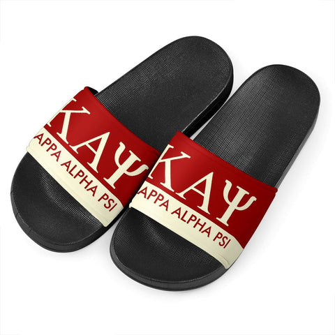 Image of Kappa Alpha Psi Black Slide Sandals