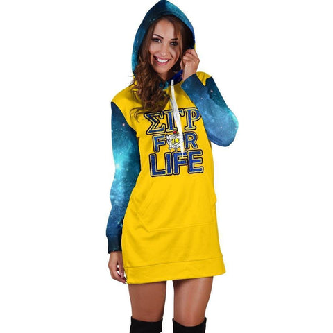 Image of Sigma Gamma Rho Hoodie Dress - Unique Greek Store