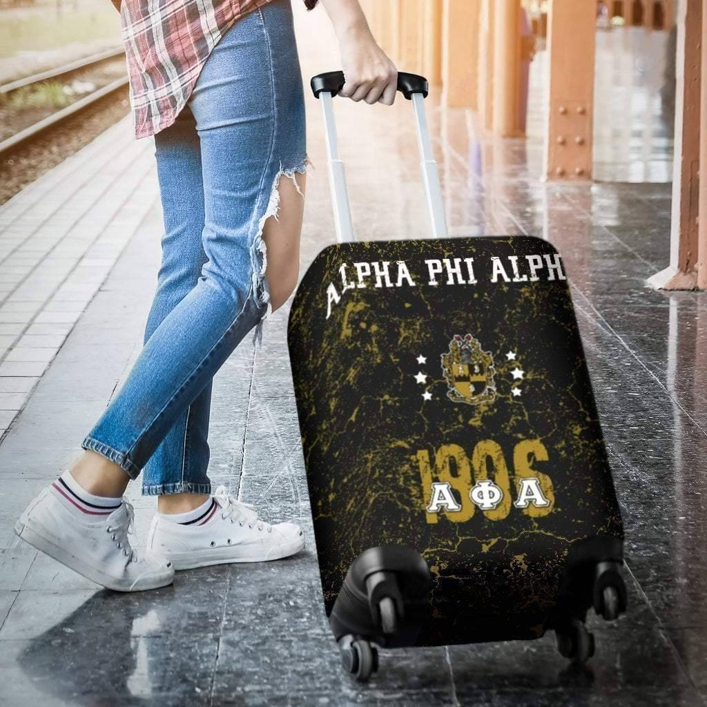 Alpha Phi Alpha Luggage Bag Cover - Unique Greek Store