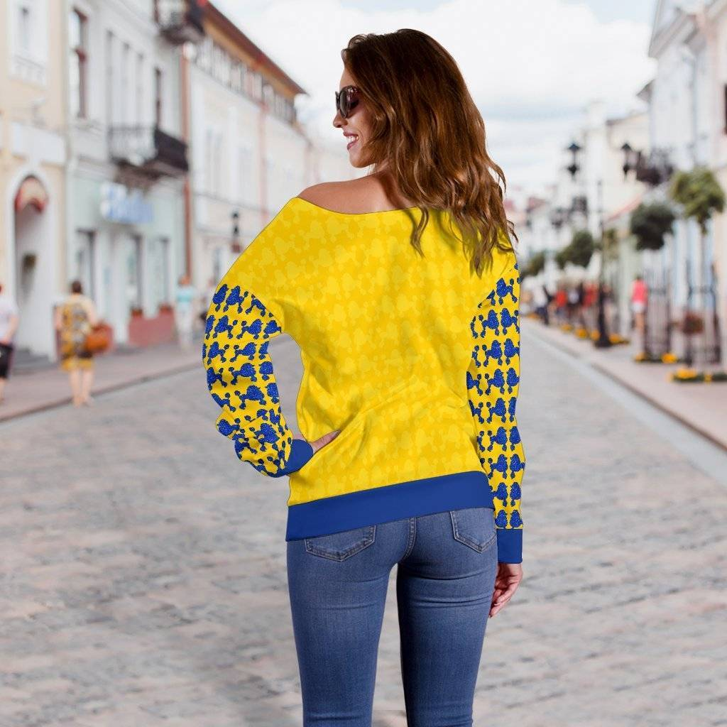 Sigma Gamma Rho Off Shoulder Sweater - Unique Greek Store