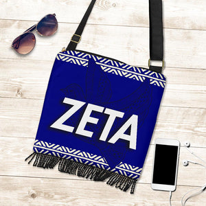 Zeta Phi Beta Crossbody Boho Handbag