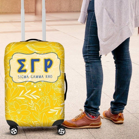 Sigma Gamma Rho Luggage Cover Logo - Unique Greek Store