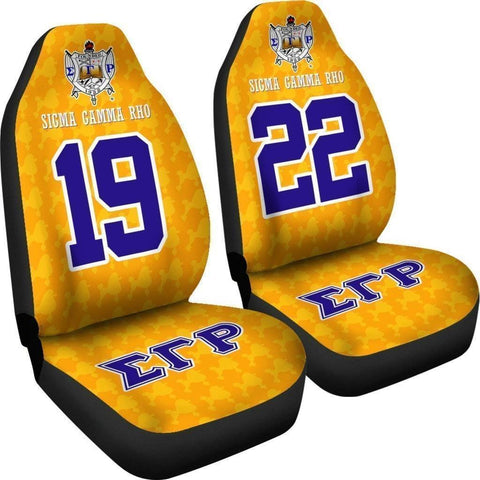 Sigma Gamma Rho Founding Year and Initials Carseat Covers - Unique Greek Store