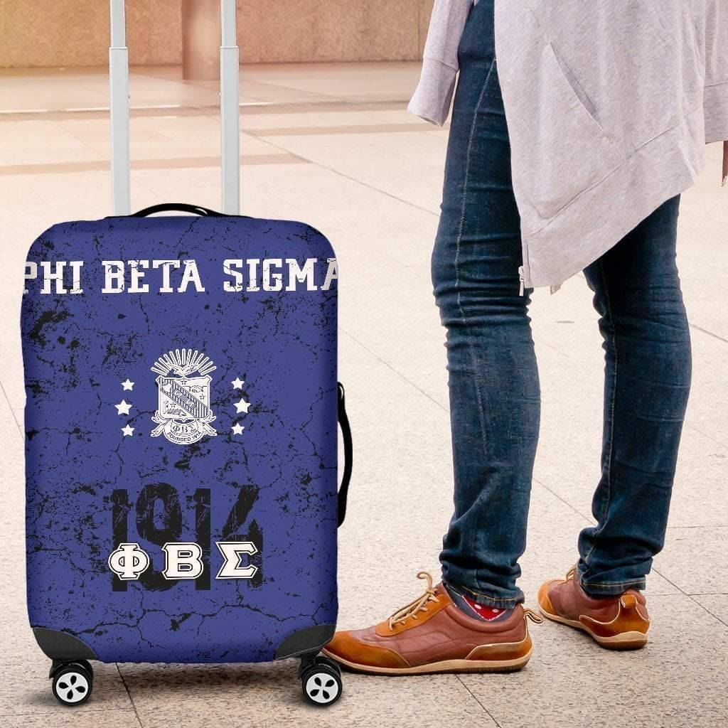 Phi Beta Sigma Luggage Bag Cover - Unique Greek Store