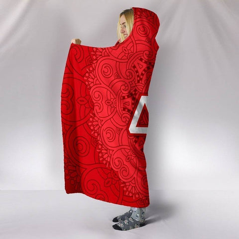 Image of Delta Sigma Theta Hooded Blanket - Unique Greek Store