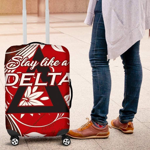Image of Delta Sigma Theta Luggage Bag Cover - Unique Greek Store