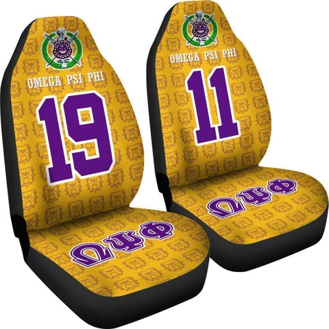 Omega Psi Phi Founding Year and Initials Carseat Covers - Unique Greek Store
