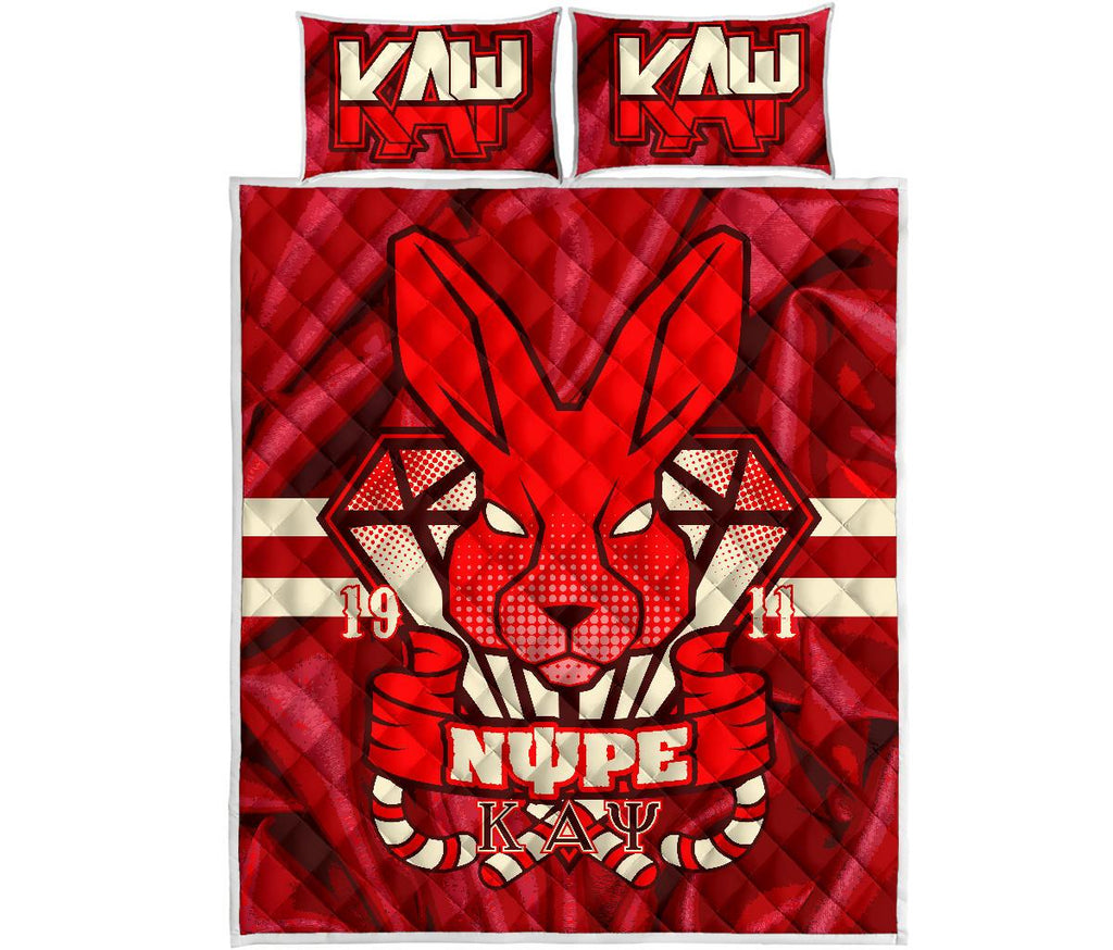 Kappa Alpha Psi Quilt Bed Set