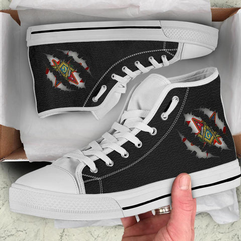 Order of the Eastern Star High Top Shoes