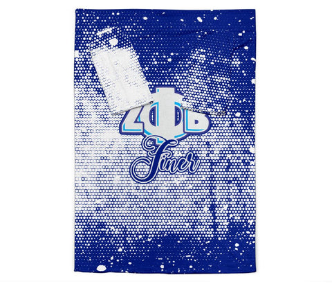 Image of Zeta Phi Beta Adult Sleeve Blanket