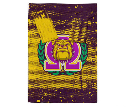 Image of Omega Psi Phi Adult Sleeve Blanket