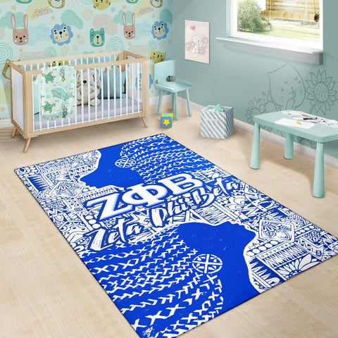 Image of Zeta Phi Beta Artistic Afro Area Rug
