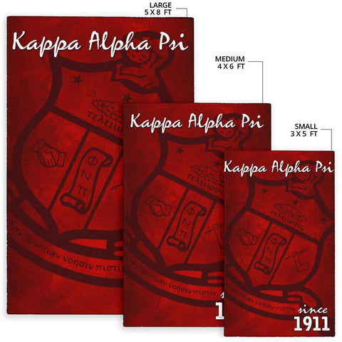 Image of Kappa Alpha Psi Founding Year Area Rug