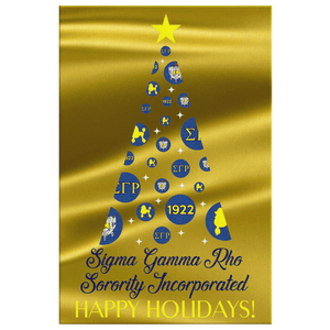 Sigma Gamma Rho Christmas Wall Canvas - Unique Greek Store