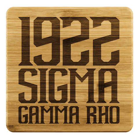 Image of Sigma Gamma Rho Square Coaster