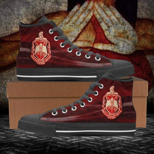 Women's Delta Sigma Theta High Top Shoes - Unique Greek Store