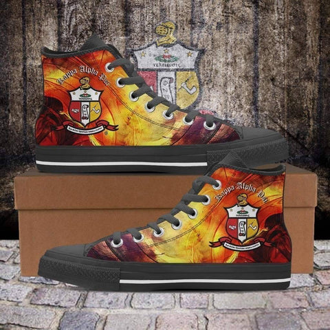 Image of Men's Kappa Alpha Psi High Top Shoes - Unique Greek Store